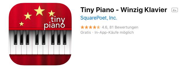 Tiny Piano (für alle die kein Klavier haben)