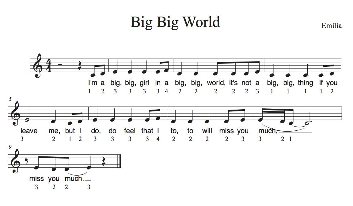 """""""Big big World"""" mit Zahlen singen"""